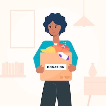 Concetto di donazione di abbigliamento design piatto