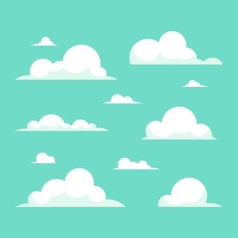 Flat design cloud collection