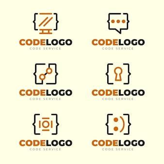 평면 디자인 코드 로고 컬렉션