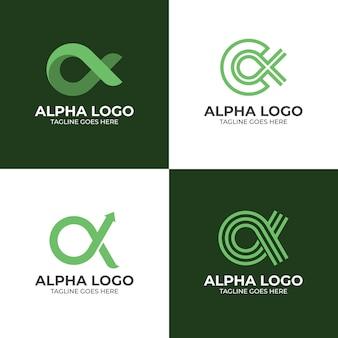 Цветные альфа-логотипы в плоском дизайне