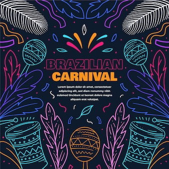 Flat design colorful brazilian carnival