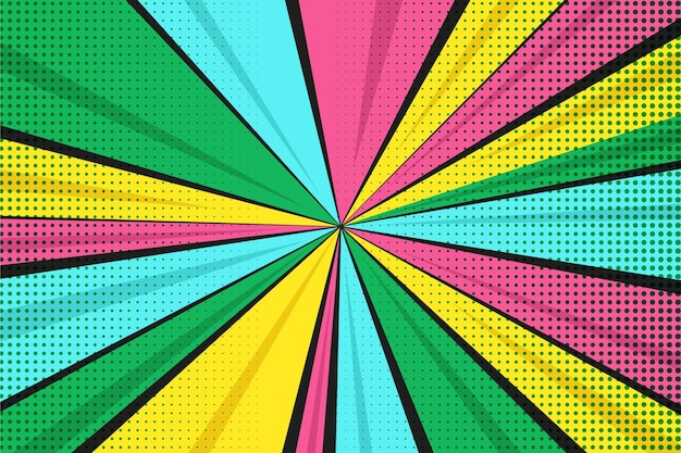 Flat design colorful comics background