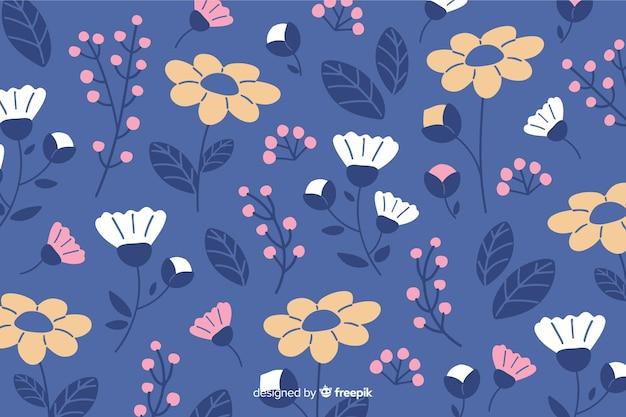 Flat design colorful floral background