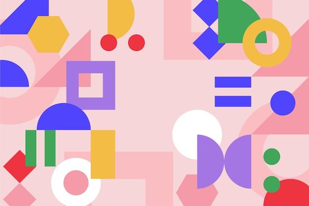 フラットなデザインのカラフルな幾何学的な背景