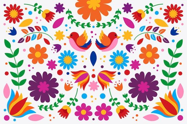 평면 디자인 화려한 멕시코 배경