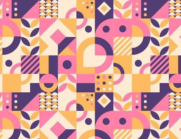 Плоский дизайн красочный мозаичный узор