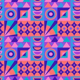 フラットなデザインのカラフルなモザイクパターン