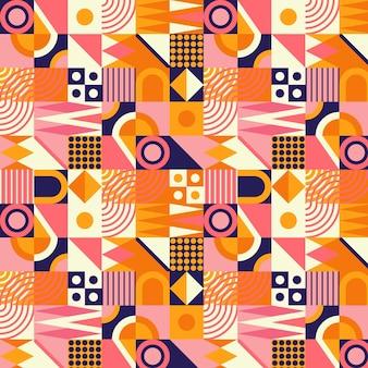 Flat design colorful mosaic pattern
