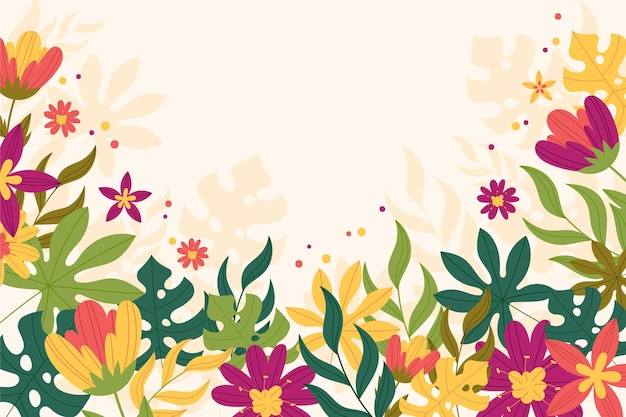Flat design colorful spring background
