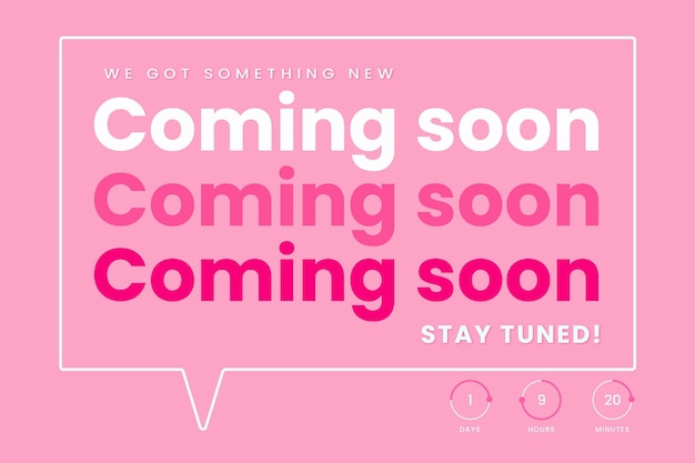 Flat design coming soon background Free Vector