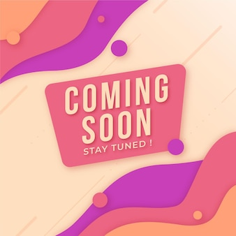 Flat design coming soon background