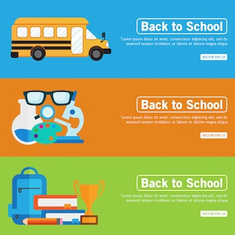 Flat design concept for back to school