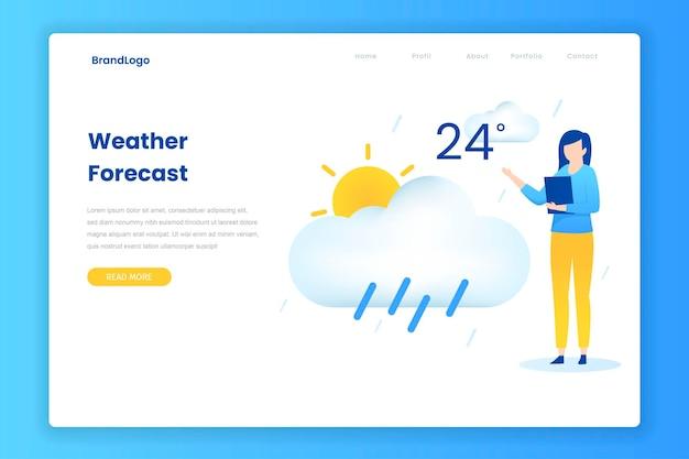 天気予報コンセプトのフラットなデザインコンセプト。