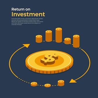 フラットなデザインコンセプトの投資収益率