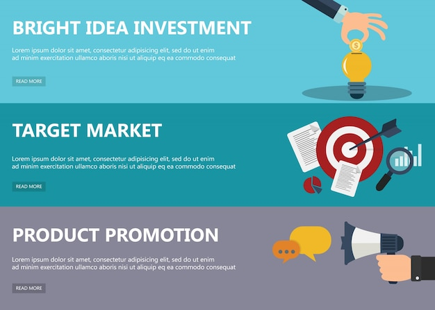 Flat design concepts for market