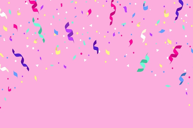 Flat design confetti background theme