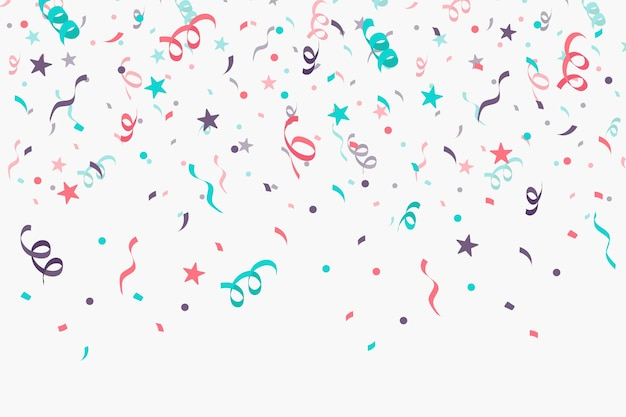 Flat design confetti background