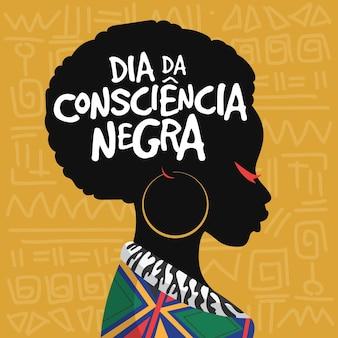 Flat design consiencia negra day