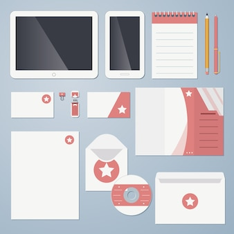 Flat design corporate identity vector illustration