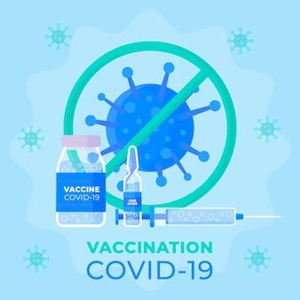 Vaccinazione covid19 design piatto