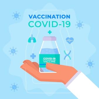 Flat design covid19 vaccination