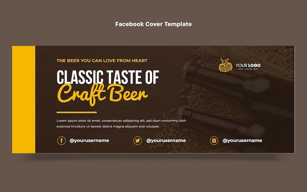 Copertina facebook per birra artigianale dal design piatto