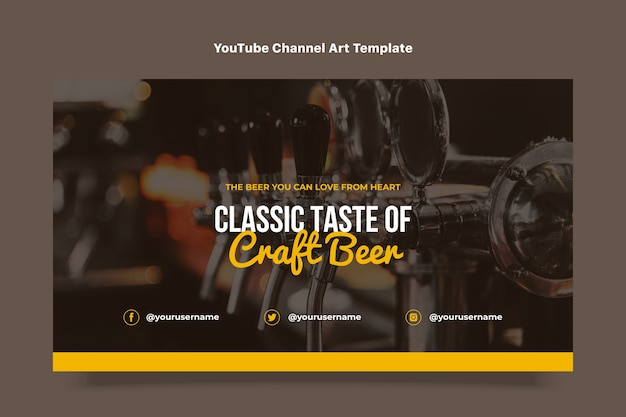 フラットデザインクラフトビールyoutubeチャンネルアート