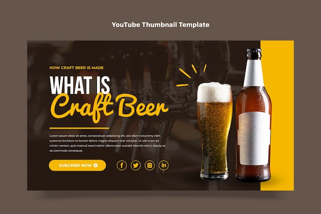 フラットデザインクラフトビールyoutubeサムネイル