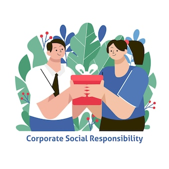 Concetto di csr design piatto illustrato