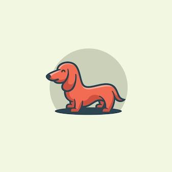 Flat design cute dog illustration