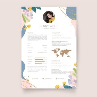 Flat designcv template