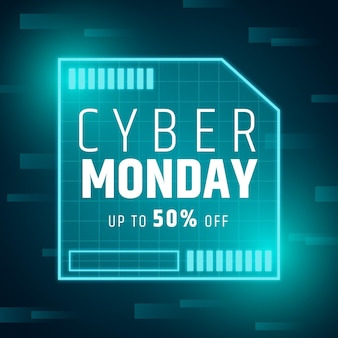 Плоский дизайн концепции кибер понедельника