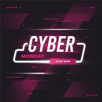 Flat design cyber monday concept