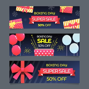 Flat design day sale banners template