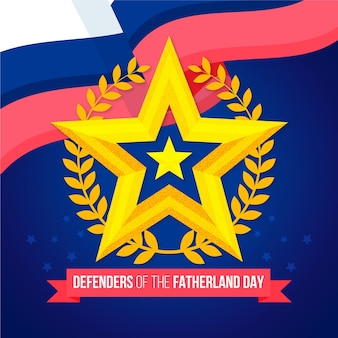 Flat design defenders of fatherland day