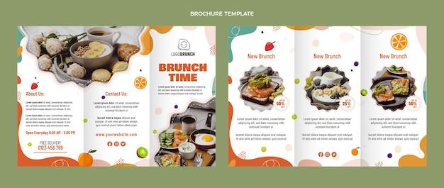 Brochure per un delizioso brunch dal design piatto