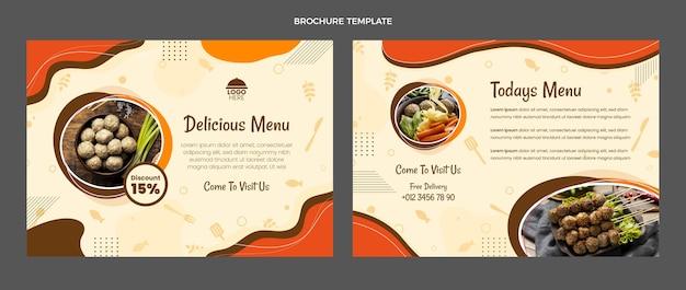 Opuscolo del menu di cibo delizioso dal design piatto