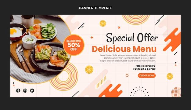 Специальное предложение вкусной еды в плоском дизайне