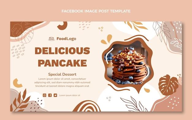 フラットデザインのおいしいパンケーキfacebookテンプレート