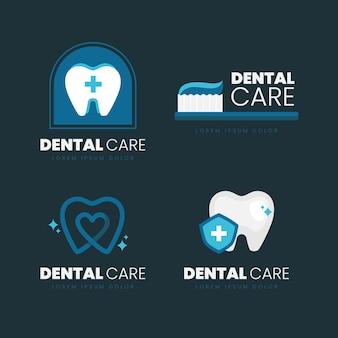 フラットデザインの歯科用ロゴコレクション