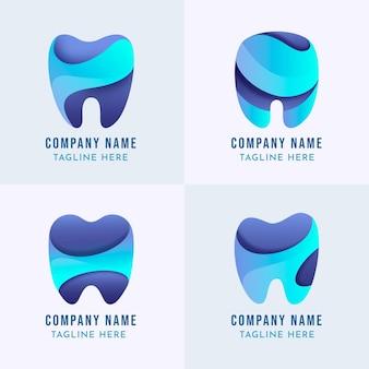 フラットデザインの歯科ロゴコレクション