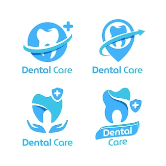 フラットデザインの歯科ロゴパック
