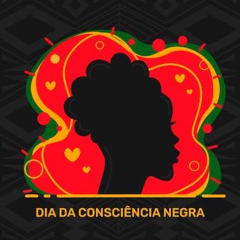 フラットデザインdia da consciencia negra