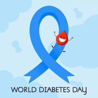 Concetto di giorno del diabete design piatto