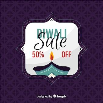 Flat design diwali sale