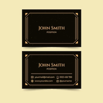 Flat design double-side business card