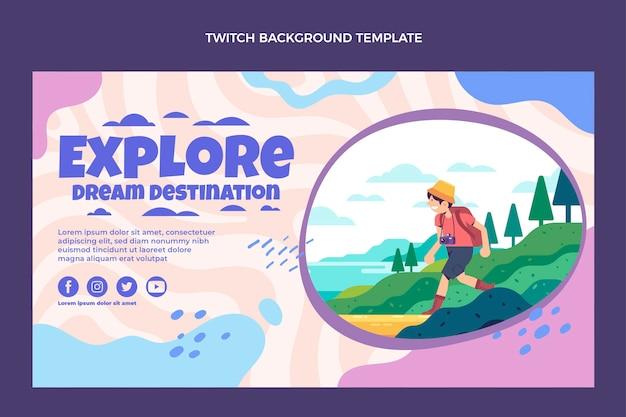 Flat design dream destination twitch background