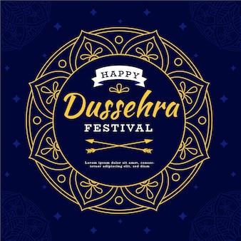 Плоский дизайн концепции dussehra