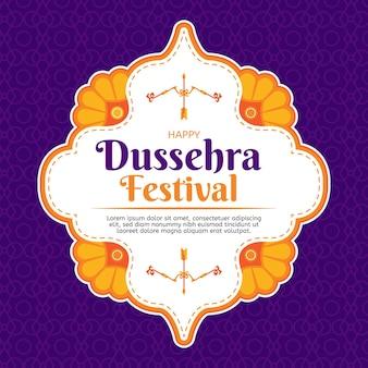 Flat design dussehra concept