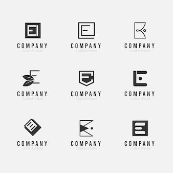 Flat design e logo collection